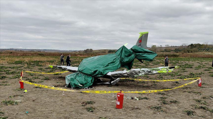 Büyükçekmece'deki eğitim uçağı kazasında hayatını kaybeden pilot son yolculuğuna uğurlandı
