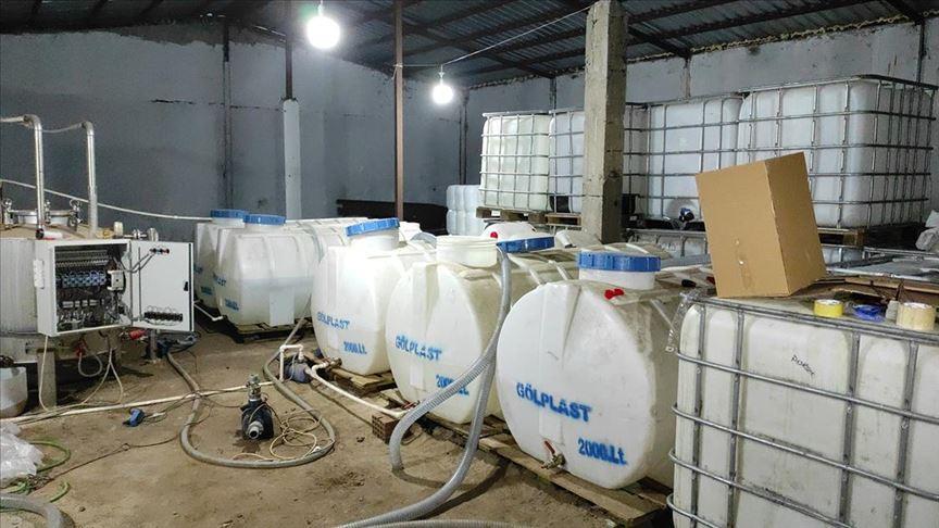 Sultangazi'de 4,5 ton etil alkol ele geçirildi!