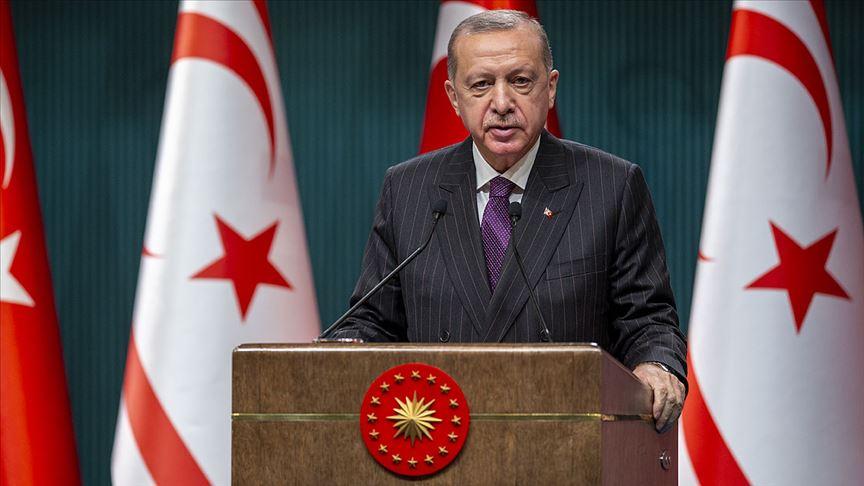 Cumhurbaşkanı Erdoğan: Türk tarafı Kıbrıs'ta adil, kalıcı ve sürdürülebilir bir çözümden yanadır