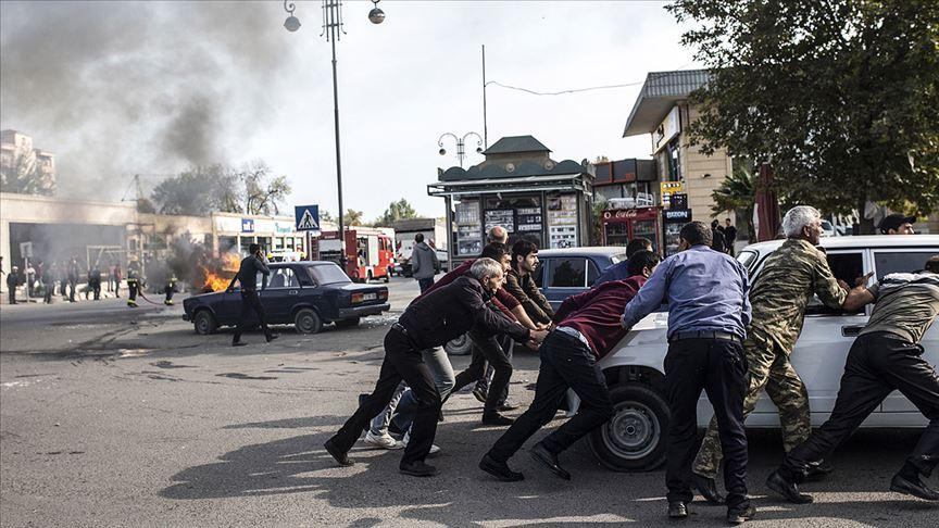 Ermenistan Berde şehir merkezinde sivilleri vurdu: 19 ölü, 60 yaralı