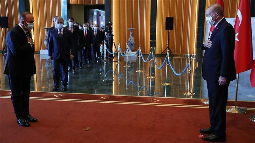 Cumhurbaşkanı Erdoğan, Cumhuriyet Bayramı tebriklerini kabul etti!