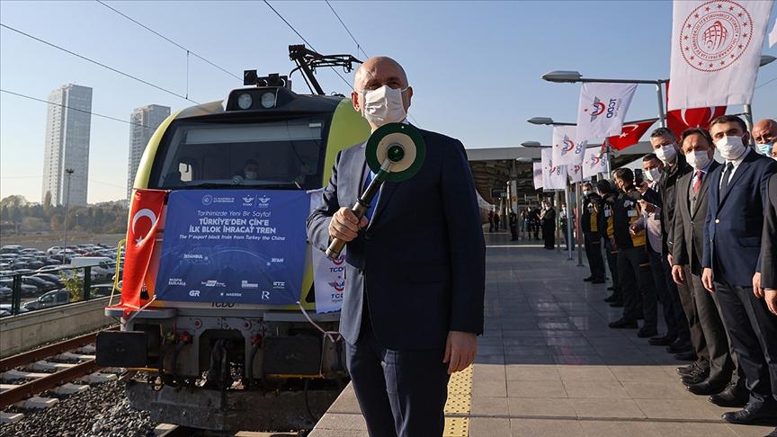 Türkiye'den Çin'e gidecek ilk ihracat treni İstanbul'dan uğurlandı!