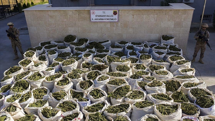 Jandarma Genel Komutanlığınca 2020'de 67 ton 251 kilo esrar ve 2 ton 398 kilo eroin ele geçirildi