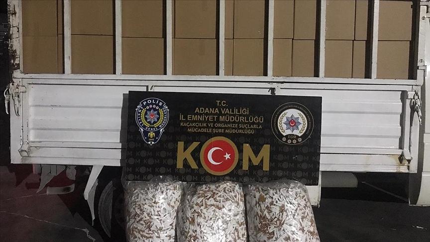 Adana'da kaçak 2 milyon 740 bin makaron ele geçirildi