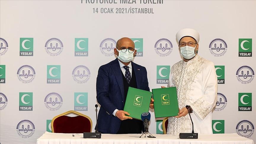 Diyanet İşleri Başkanlığı ile Yeşilay arasında iş birliği protokolü