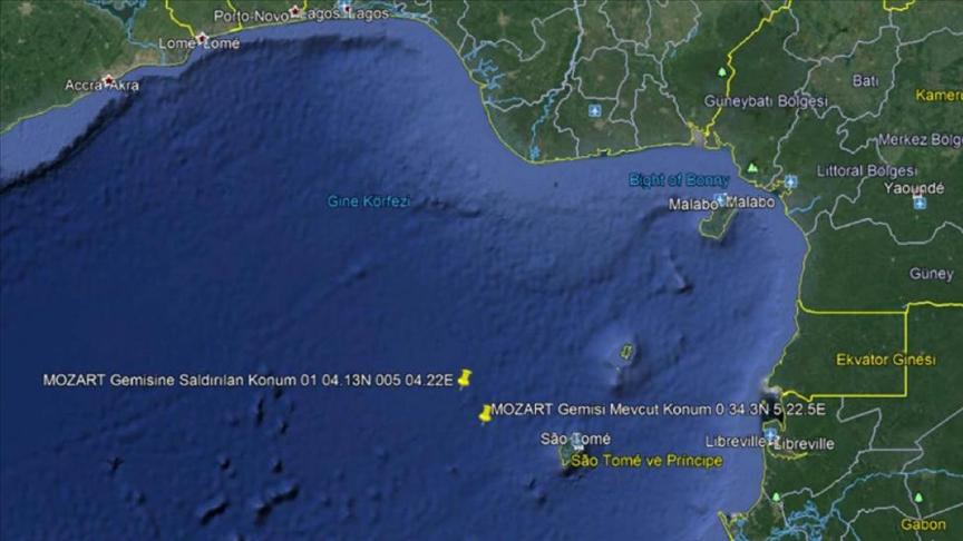 Nijerya açıklarında saldırıya uğrayan Türk gemisi, Gabon Port-Gentil Limanı'na hareket etti