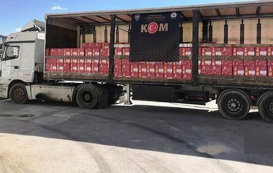 'Mardin'de Kaçak İçki Operasyonu'
