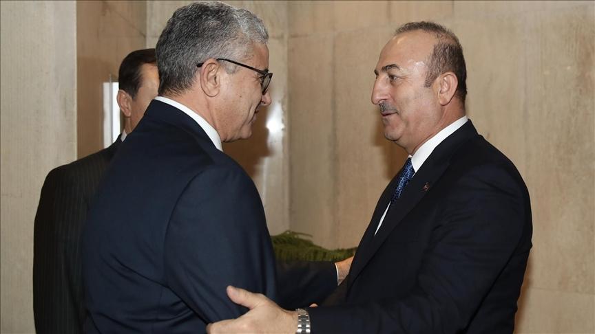 Çavuşoğlu, Libya İçişleri Bakanı Başağa'yla görüştü!