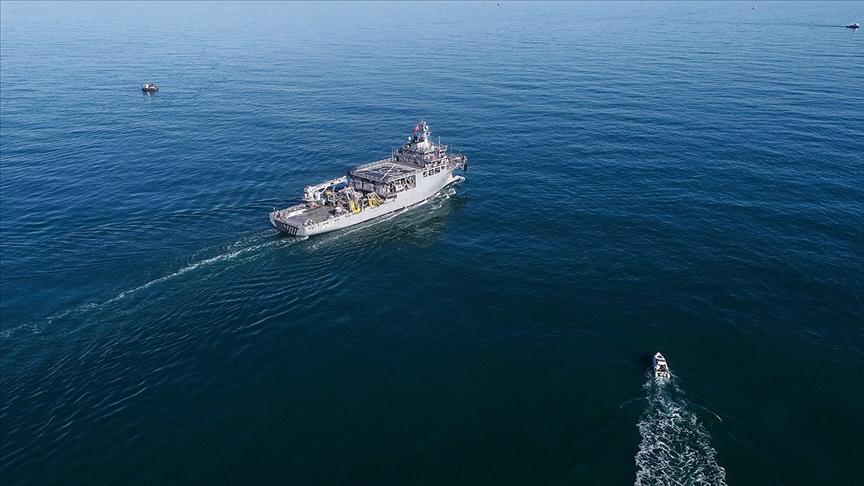 Yunanistan'a ait savaş uçaklarından uluslararası sularda araştırma yapan 'TCG Çeşme' gemisine taciz