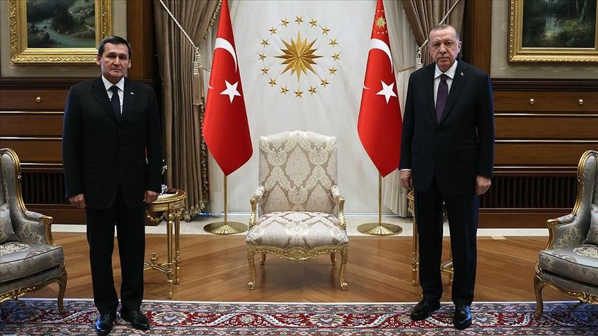 Erdoğan Türkmenistan Dışişleri Bakanı Meredow'u kabul etti