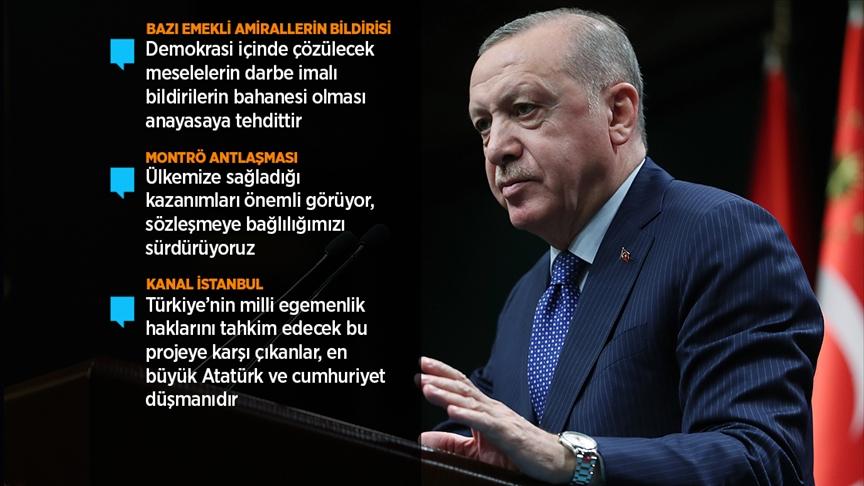 Erdoğan: Gerçekleştirilen bu eylem kesinlikle art niyetli bir girişimdir