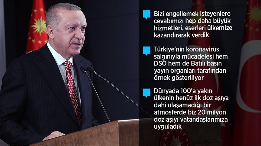 Erdoğan: 2021 senesini ülkemiz ve milletimiz için bir şahlanış yılına dönüştüreceğiz