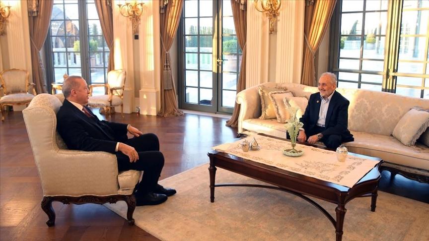 Erdoğan, Saadet Partisi Yüksek İstişare Kurulu Başkanı Asiltürk'ü kabul etti
