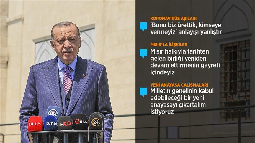 Cumhurbaşkanı Erdoğan / (Yerli aşı) Sadece ülkemiz için değil, tüm dünyayla paylaşmaya hazırız