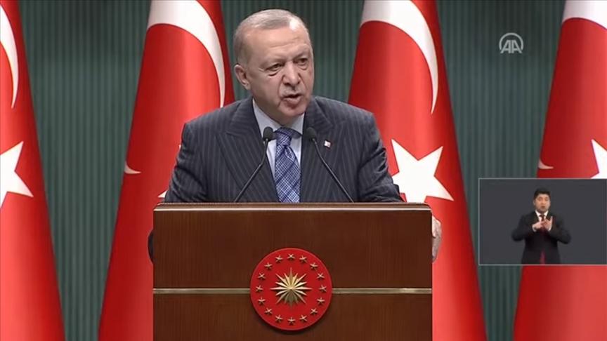 Cumhurbaşkanı Erdoğan: Salgını yeniden büyük ölçüde kontrol altına aldık
