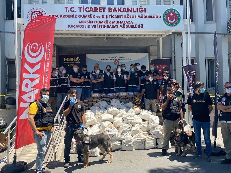 TİCARET BAKANI MUŞ DUYURDU / Mersin Limanı'nda 1 ton kokain ele geçirildi