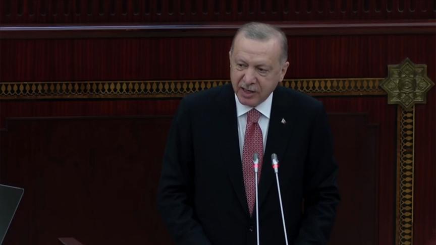 Cumhurbaşkanı Erdoğan Azerbaycan Meclisi'ne hitap ediyor