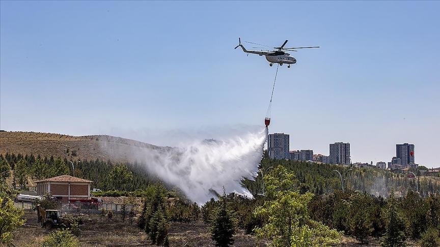Atatürk Orman Çiftliği arazisindeki yangında soğutma çalışmaları devam ediyor