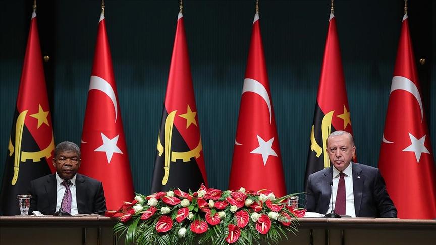 Cumhurbaşkanı Erdoğan: Türkiye terörle mücadelede Angola'nın da yanında yer alacaktır