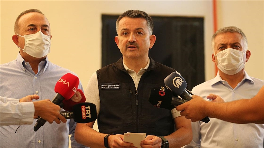 Pakdemirli: Manavgat yangını kontrol altında ancak Akseki'de devam eden bir yangın var