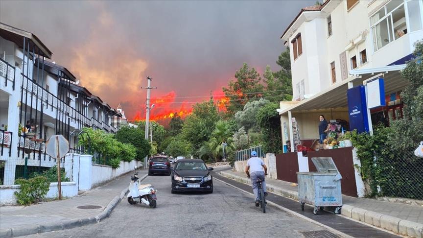 Marmaris ve Milas'ta ormanlık alanda yangın çıktı!