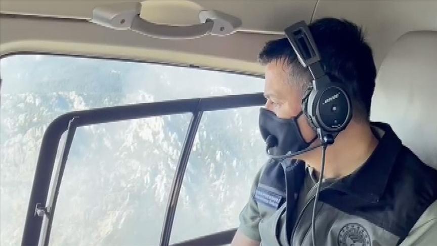 Bakan Pakdemirli, Manavgat'taki yangın bölgesinde incelemelerde bulundu