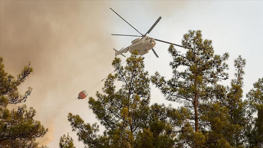 Ülke genelindeki 112 orman yangınının 107'si kontrol altına alındı