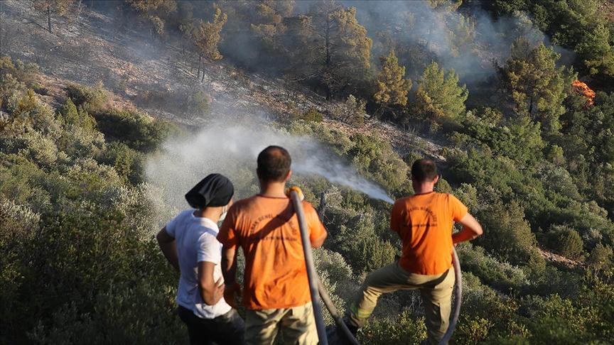 Bodrum Kaymakamı Bekir Yılmaz: Yangını kısmen de olsa durdurup, önünü kestik