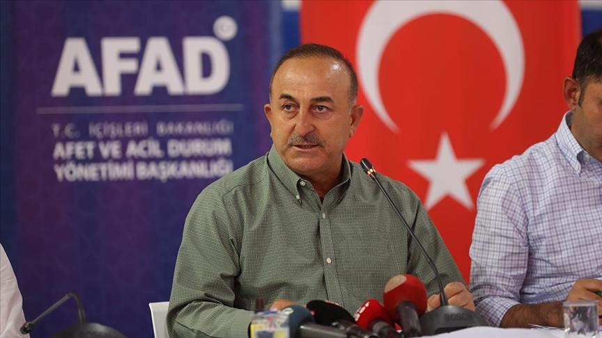 Çavuşoğlu: Manavgat'ta yangının daha ileriye gitmesini müdahaleler sayesinde durdurduk