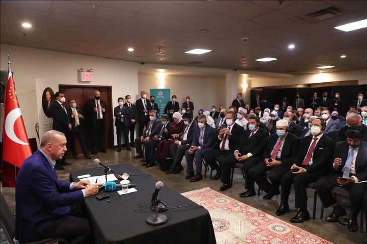 Cumhurbaşkanı Erdoğan, ABD'deki Müslüman toplumunun önde gelen temsilcilerini kabul etti