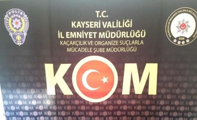 Kayseri'de 22 kaçakçılık operasyonunda 15 kişi hakkında soruşturma