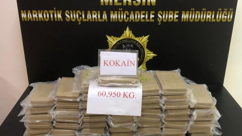 Mersin Uluslararası Limanı'nda 60 Kilo kokain ele geçirildi!