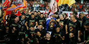 Galatasaray'da şampiyonluk sevinci