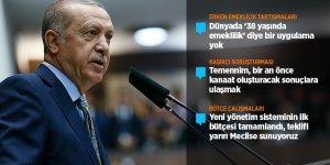 Cumhurbaşkanı Erdoğan: Erken emekliliği sosyal güvenlik sistemimizde tasvip etmiyoruz