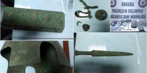 Tarihi mezardaki hırsızlığın zanlıları başkentte yakalandı!