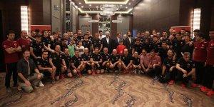A Milli Futbol Takımı'nda bayramlaşma