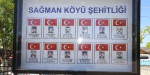 Tunceli'de şehit 12 vatandaş için yaptırılan anıt açıldı