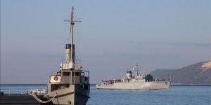 NATO gemileri Çanakkale'de..
