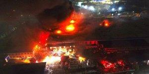 Düzce'deki fabrika yangını kontrol altına alındı
