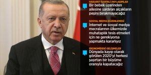 Cumhurbaşkanı Erdoğan: İnternet mecralarını kullananlar suç işlemede layüsel değildir