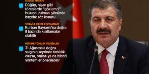 Sağlık Bakanı Koca: Anadolu'da birinci dalga halen devam ediyor