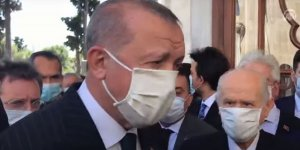 Erdoğan ve Bahçeli Fatih Sultan Mehmet Han'ın türbesini ziyaret etti