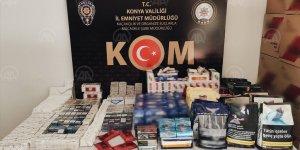Konya'da 25 bin makaron ele geçirildi!