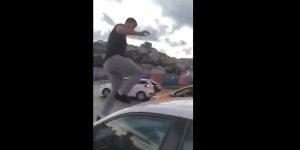 Alibeyköy'de trafikte kadın sürücüye saldıran kişi gözaltına alındı