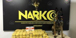 Aksaray'da 49 kilo 800 gram eroin ele geçirildi!