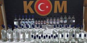Operasyonlarda 1552 şişe ve 3 bin 232 litre kaçak/sahte alkollü içki ele geçirildi
