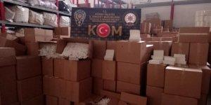 Adana'da 10 milyon 750 bin adet kaçak makaron ele geçirildi!