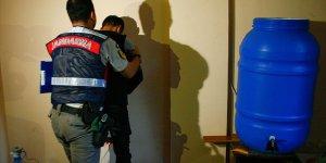 'Jandarmadan yurt genelinde sahte-kaçak içki operasyonu'