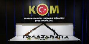 Esnafı silah zoruyla tehdit edip haksız kazanç sağlayan suç örgütüne Ankara merkezli operasyon
