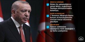Erdoğan: 1 Temmuz'da başlamak üzere sokağa çıkma kısıtlamalarını tümüyle kaldırıyoruz